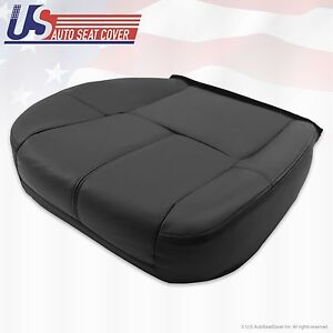 2007 13 Chevy Avalanche 1500 2500 Hd Driver Bottom Leather Seat Cover Ebony 193