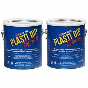 Plasti Dip Multi Purpose Rubber Coating Spray White 1 Gallon pack Of 2