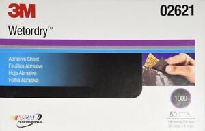 3m 02621 Imperial Wetordry 5 1 2 Inch X 9 Inch 1000c Grit Sheet
