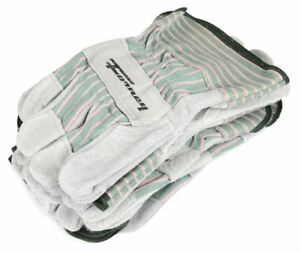 Forney 53207 Cowhide Leather Palm Men s Work Gloves X large 6 pack