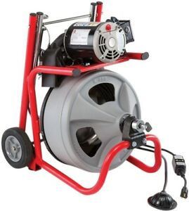 75 Electric Power Machine Auger Cable Drain Clog Cleaner Snake Pipe Sewer Tub