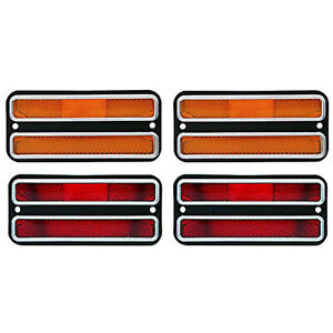 68 72 Chevy Gmc Truck Front Amber Rear Red Side Marker Light Lamps Set Of 4