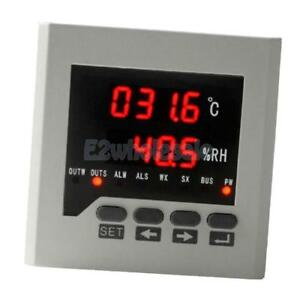 Digital Temperature Controller Humidity Control Digital Display 80mm White