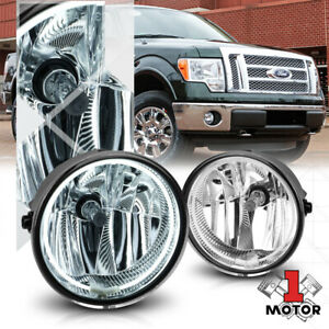 Chrome Ccfl Halo Ring Fog Light W harness For 11 14 Ford F150 lincoln Mark Lt