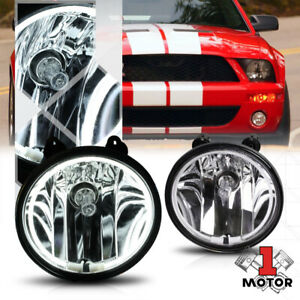 Crystal Clear Ccfl Halo Ring Fog Light W harness For 07 14 Ford Mustang Shelby