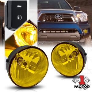 Yellow Lens Fog Light Bumper Lamp W switch harness For 07 12 Tundra 05 11 Tacoma