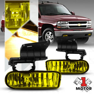 Golden Yellow Fog Light Bumper Lamps For 99 02 Silverado 00 06 Suburban tahoe