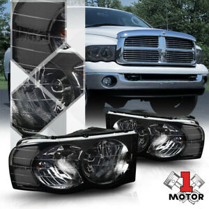 Smoke Tinted Headlight Clear Signal Reflector For 02 05 Dodge Ram 1500 2500 3500
