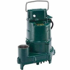 Zoeller 152 0002 4 10 Hp Cast Iron High Head Effluent Pump non automatic