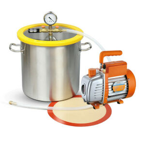 5 Gallon Stainless Steel Vacuum Degassing Chamber Kit With 5 Cfm Pump From Us
