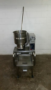 Groen 40 Quart Qt Kettle Jacketed Crank Tilt Tdbc 40 208 Volt 1 Or 3 Phase
