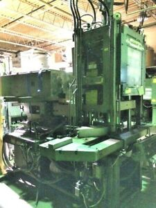 75 Ton Newbury Vertical Shuttle Injection Molding Machine i4629