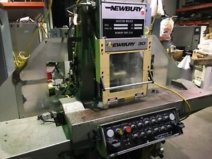 30 Ton Newbury Vertical C Frame Injection Molding Machine 1995 u4048