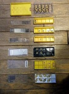 Mixed Lot 31 X New Kennametal And Mitsubishi Carbide Inserts