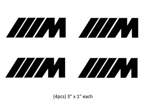 4pcs Bmw M Power Decal Sticker Vinyl Motorsport Racing Each Ships From Usa