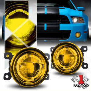 Gold Yellow Lens 3 5 round Led Projector Fog Light Replacement Oe Bumper Lamps