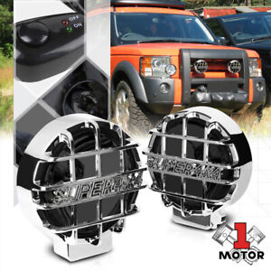 Smoked Lens 6 round Fog Light W chrome 4x4 Offroad Protective Stone Guard switch