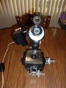 Bausch Lomb Machinist Toolmakers Microscope Micrometer X y Stage B l Lighted