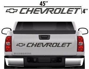 Chevrolet Tailgate Vinyl Vehicle Lettering Decal Sticker 1990 S Truck Graphics
