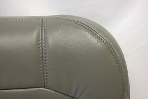 1999 To 2002 Gmc Sierra 1500 2500 Passengerbottom Leather Seat Cover Pewter Gray