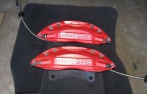 00 06 Bmw X5 Stoptech Front Big Brake Calipers St 40 Red