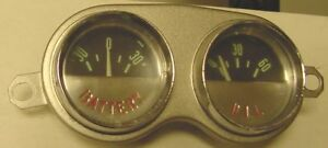 1959 1960 1961 1962 Chevrolet Corvette Battery Oil Gauges Used Original