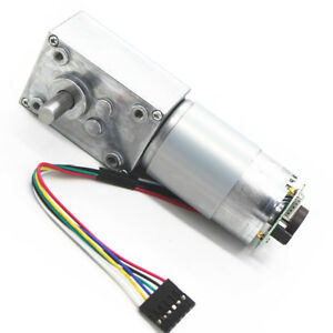 Gear Box High Torque Geared Motor Reduction Motor With Encoder 12v 80rpm