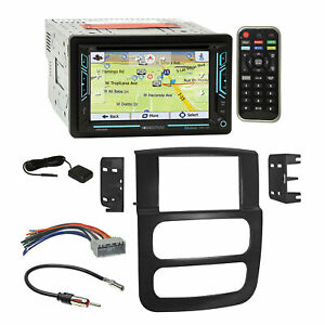 Soundstream Bluetooth Gps Stereo Dash Kit Harness For 2002 05 Dodge Ram Truck