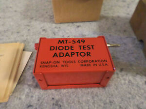 Snap On Tools Mt 549 Diode Tester W Box Like New Rare Hard To Find c10b3
