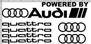 Audi S Rs Line Quattro Vinyl Decal Sticker Set Awd Euro Total 7 Pieces A4 S4 Tt