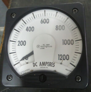 Westinghouse Kx 241 Amp Meter 0 1200 Amps