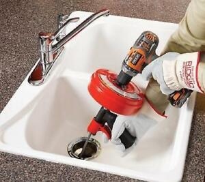 No Tax Cleaning Clog Ridgid Plumbing Power Spin Drain Cleaner Snake Auger