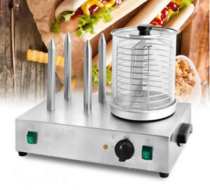 110v Hot Dog Machine Bun Warmer Electric Commercial Hotdog Steamer
