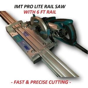 Imt Pro Lite Wet Cutting Makita Motor Rail Track Saw For Granite With 6 Ft Rail