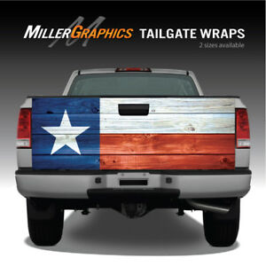 Texas Flag Distressed Wood Truck Tailgate Vinyl Graphic Decal Wraps