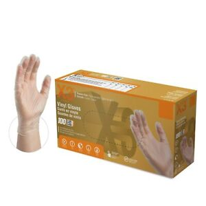 2000 cs Ammex Gpx3 3 Mil Vinyl Disposable Gloves Latex Free Non Nitrile Clear