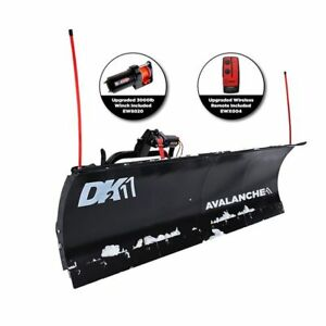 Dk2 84 Inch T Frame Snow Plow Kit Avalanche 84 X 22 Aval842