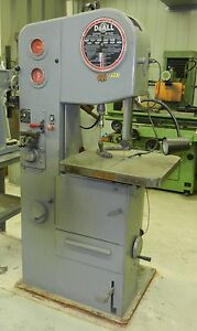 Doall Band Saw 1612 1 Variable Speed Blade Welder High Low Range Wvs