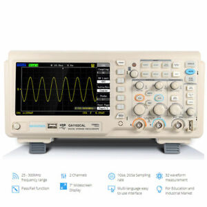 Ga1102cal 1gsa s 100mhz Tft 7 Inch Lcd Digital Oscilloscope Kit Probe 2 Channel