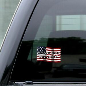 Usa Distressed Flag Stand For The Flag Sticker Vinyl Decal Rear Window Car 5