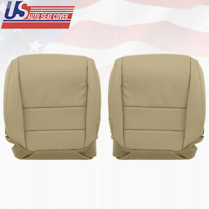 For 2007 08 Acura Tl Driver Passenger Bottom Seat Cover Perforated Leather Tan