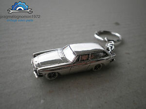 Volvo P1800 Es Keychain Silver Plated Gift