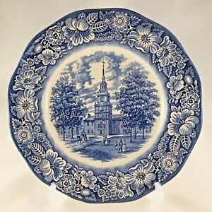Independence Hall Dinner Plate Liberty Blue Series By Wedgwood