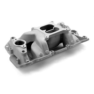 Sbc Small Block Chevy 4 Barrell Aluminum Intake Open Plenum Design 350 383