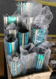 Lot Of 11 Trophy Parts Column Round And Rectangle 48 Lengths Teal green black