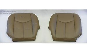 2003 Chevy Silverado Truck Driver And Passenger Bottom Leather Upholstery S Tan