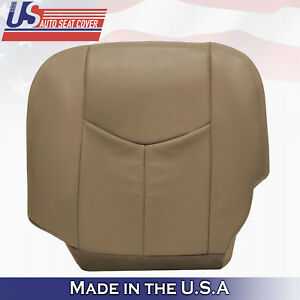 2003 04 05 2006 Chevy Silverado Truck Left Front Bottom Leather Seat Cover Tan