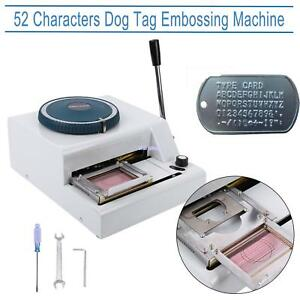 52 Characters Manual Dog Id Card Tag Printer Embosser Embossing Stamping Machine