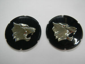 1962 1963 1964 Buick Wildcat Exterior Sail Panel Emblem Wildcat Head Pair 63 64
