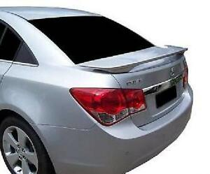 Fits 2011 2014 Chevrolet Cruze Painted Spoiler Wing Silver